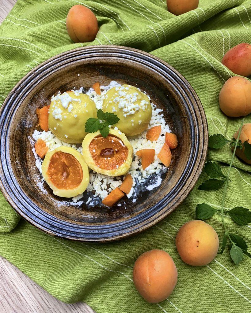 Ovocné tvarohové knedlíky z ryžovej múky Pernerka