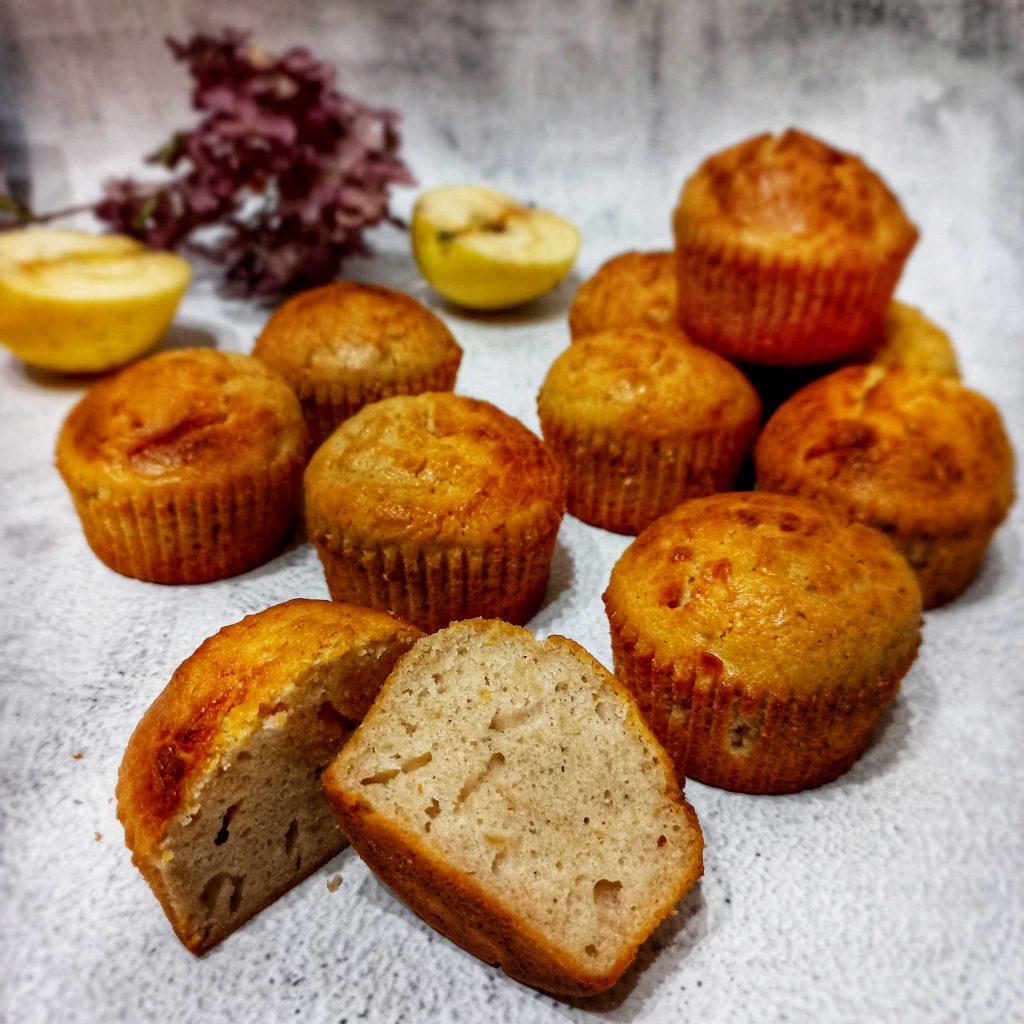 Pohánkovo-jablkové muffiny z pohánkovej múky Pernerka