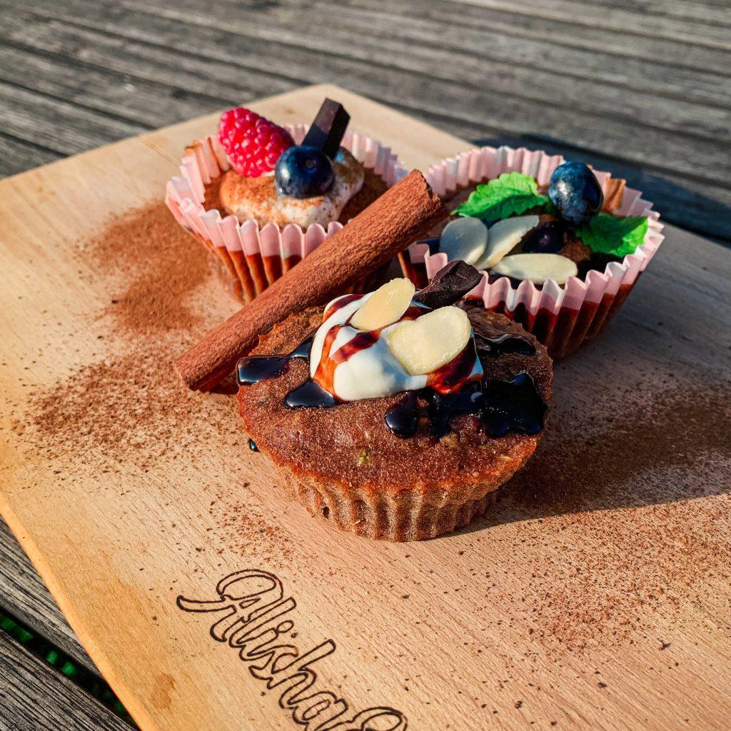Cuketové muffiny z celozrnnej špaldovej hladkej múky Pernerka